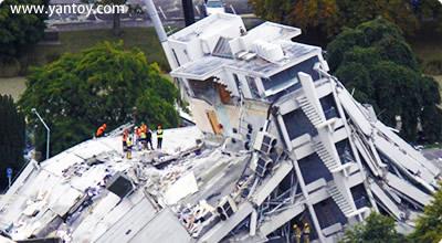 新西兰南岛克莱斯特彻奇一座教学大楼地震场景