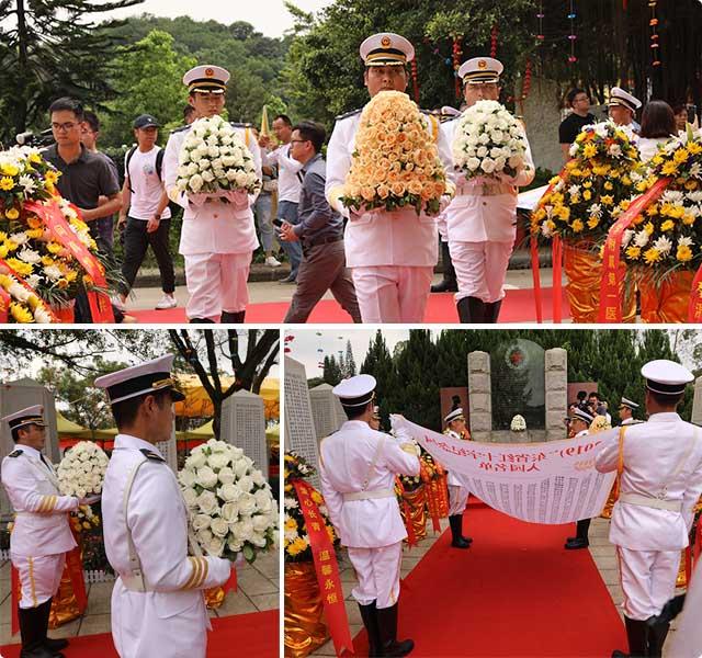 仪仗队迎灵入园仪式